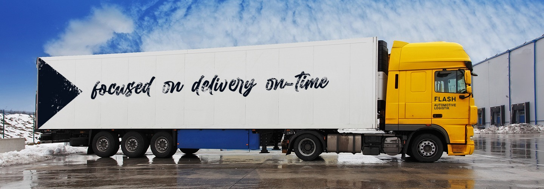Flash automotive logistik truck of road freight
